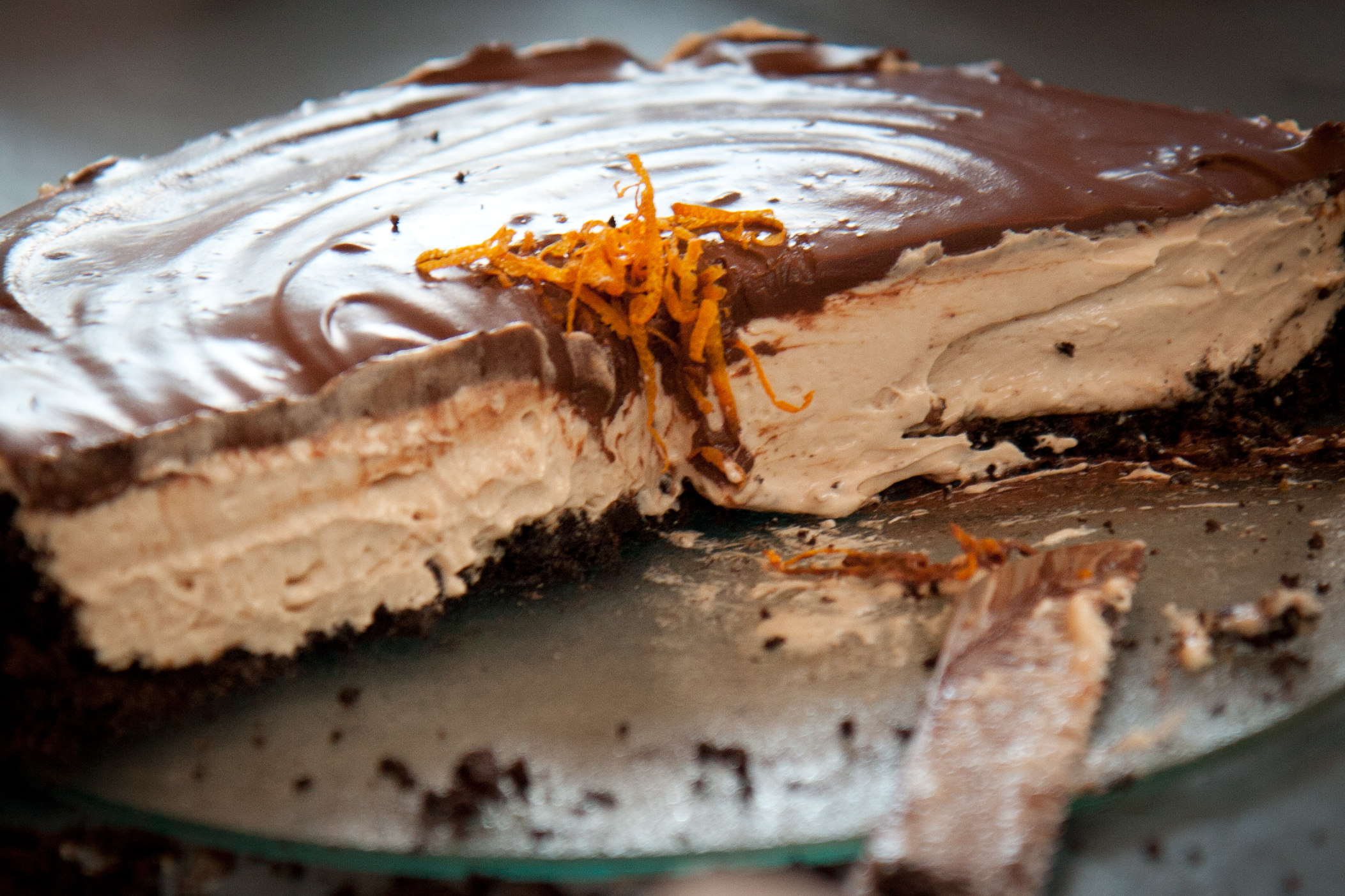 """Grandma's"" Chocolate Peanut Butter Pie"